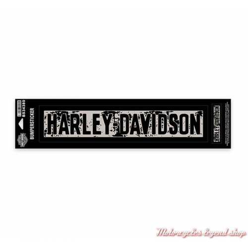 2 Stickers Premium Harley-Davidson, noir, gris, BS34380
