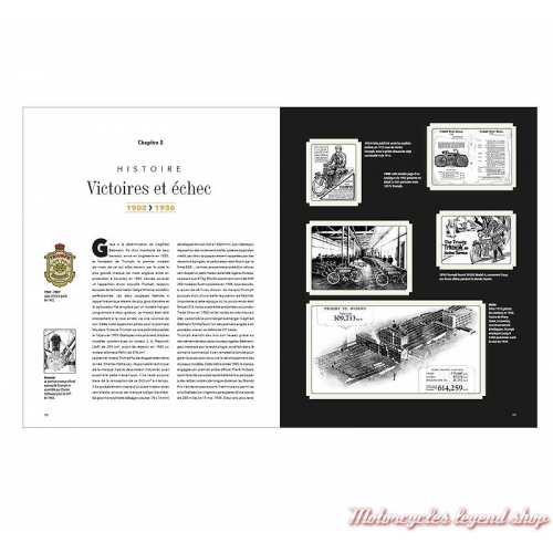Livre Triumph, l'art motocycliste anglais, 240 pages, Michaël Levivier et Zef Enault, pages 10-11