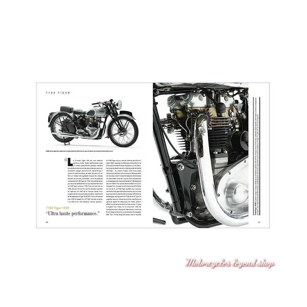 Livre Triumph, l'art motocycliste anglais, 240 pages, Michaël Levivier et Zef Enault, pages 30-31