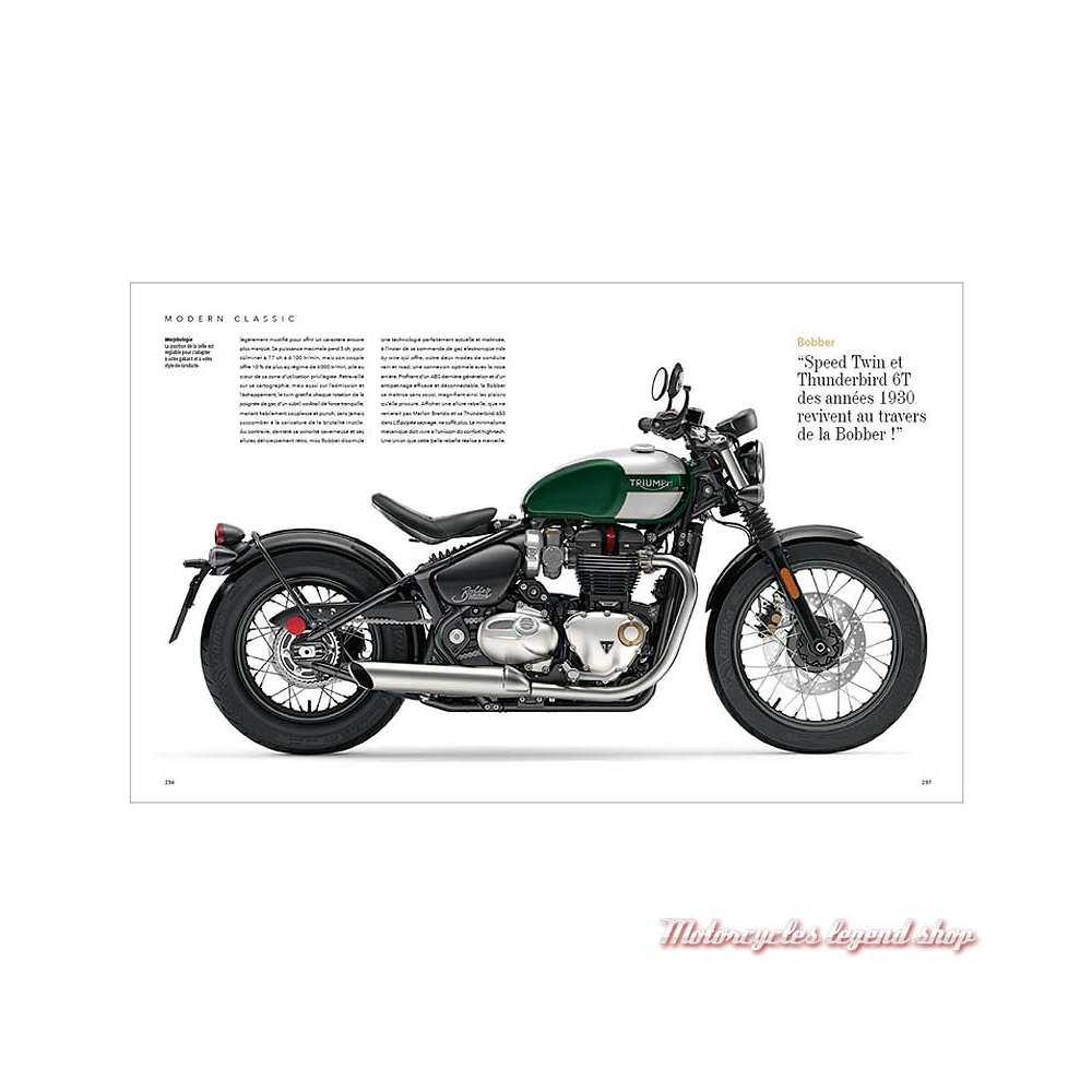 Livre Triumph, l'art motocycliste anglais, 240 pages, Michaël Levivier et Zef Enault, pages 236-237