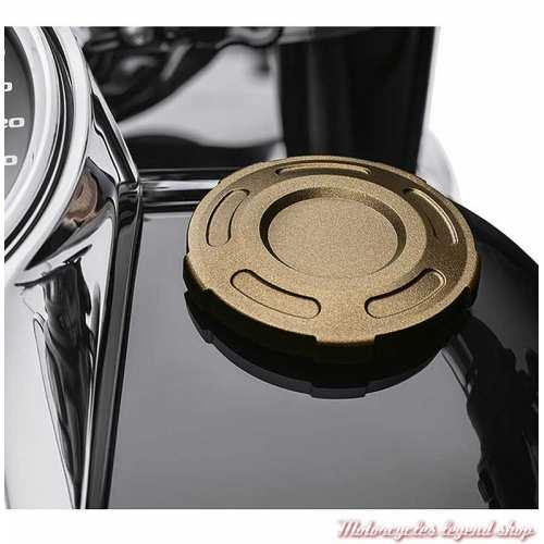 Bouchon de réservoir custom Dominion Harley-Davidson, bronze, visuel, 61100106
