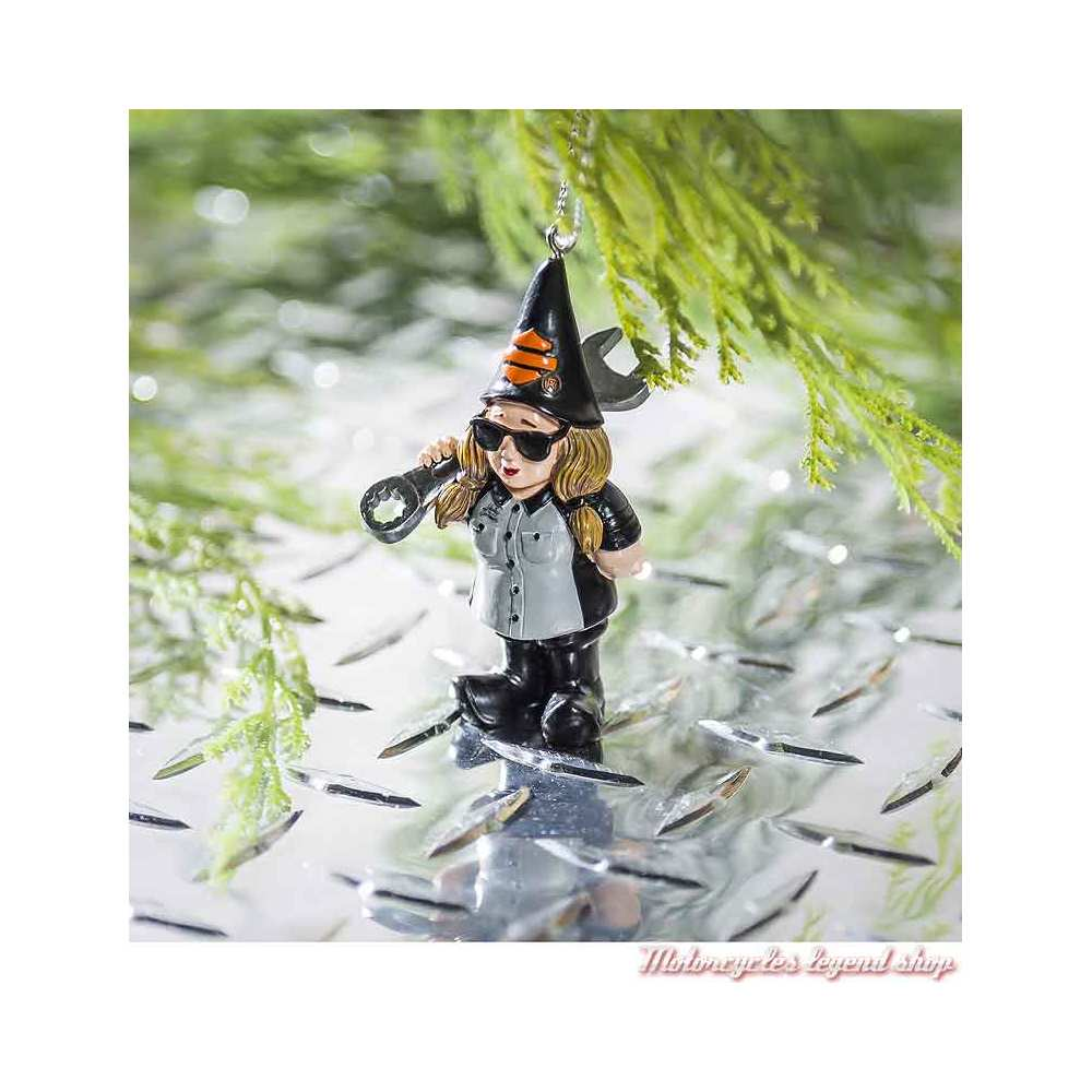 Naine de jardin Mechanic à suspendre Harley-Davidson 7.5 cm, visuel, 3OT4902GMD