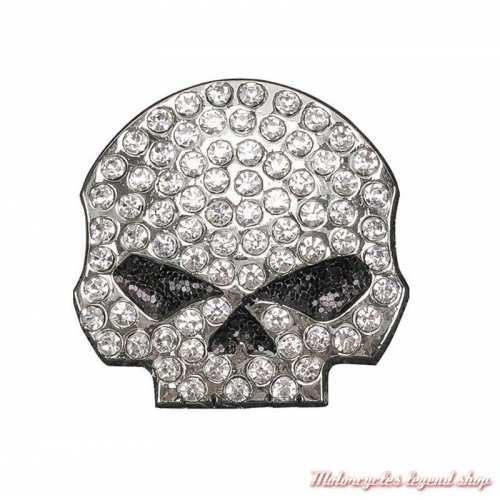 Pin's Skull Willie G. Bling Harley-Davidson femme strass, P1199062