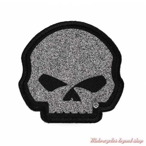 Patch Skull Glitter Harley-Davidson femme ,paillette argent, 6 cm, EM1199061