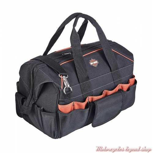 Sac à outils Harley-Davidson, noir, polyester, nombreux rangement, fermé, 99103