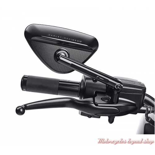Rétroviseurs noirs Rizoma Harley-Davidson, aluminium, visuel, 56000263