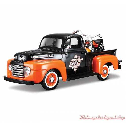 Miniature Pickup Ford F-1 et FLH Duo Glide Harley-Davidson