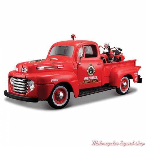 Miniature Pickup Ford F-1 Fire et EL Knucklehead Harley-Davidson