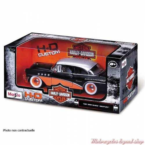 Miniature Ford Model A Harley-Davidson, orange, blanc, 1/24, boite, 32160-32175