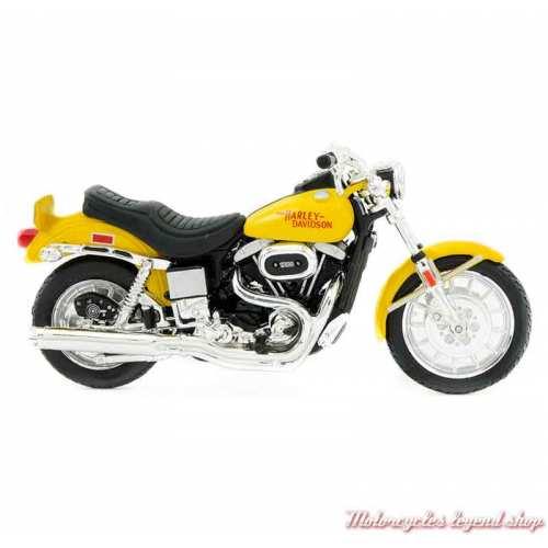 Miniature FXS Low Rider 1977 Harley-Davidson, jaune, echelle 1/18