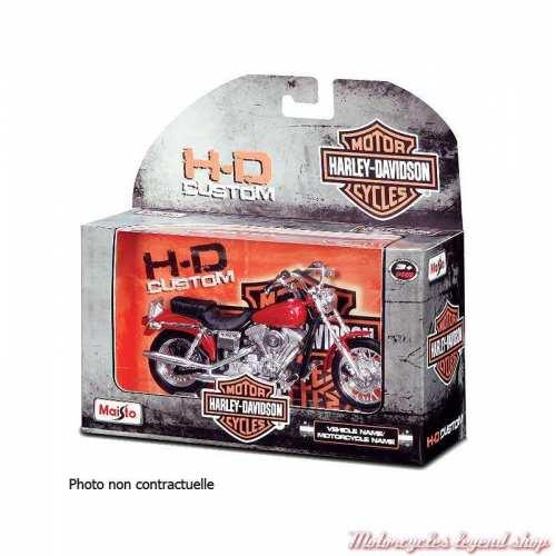 Miniature FXS Low Rider 1977 Harley-Davidson, jaune, echelle 1/18, boite