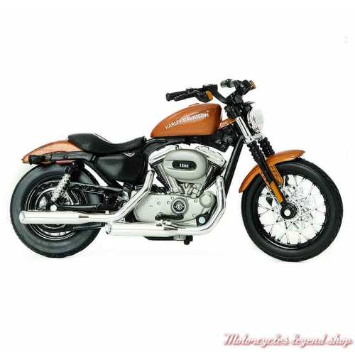 Miniature XL 1200N Nightster 2007 Harley-Davidson, marron, echelle 1/18