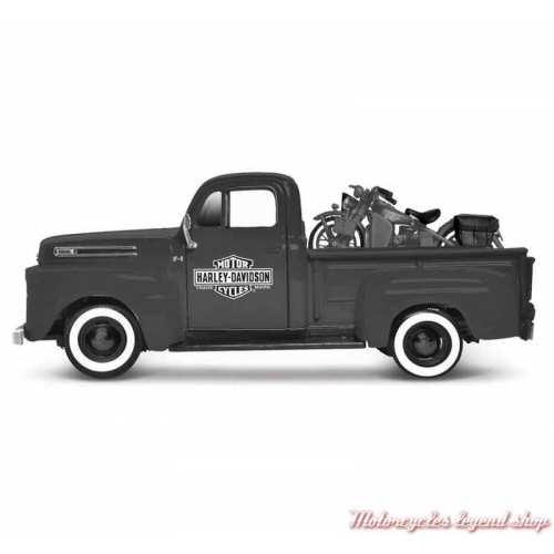 Miniature Pickup Ford F-1 et WLA Flathead Harley-Davidson
