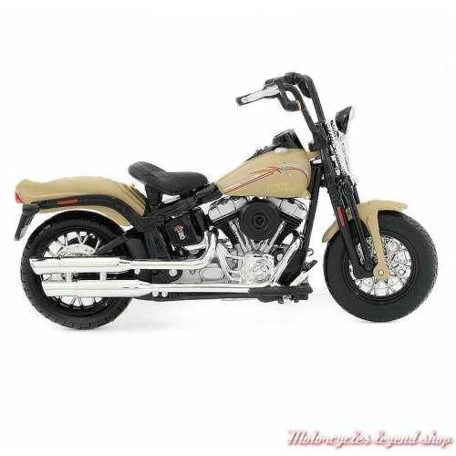 Miniature FLSTSB Cross Bones 2008 Harley-Davidson, beige, echelle 1/18