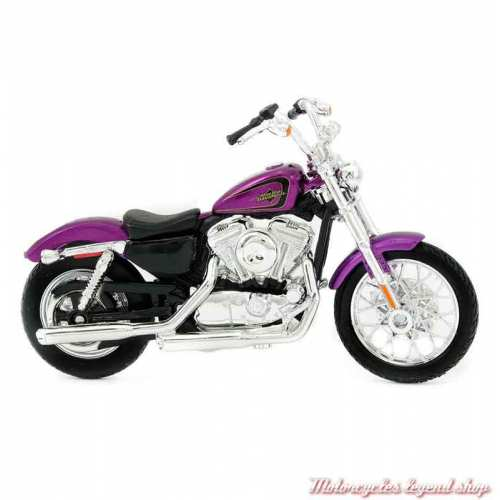 Miniature XL 1200V Seventy-Two 2013 Harley-Davidson, purple, echelle 1/18