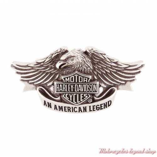 Boucle American Legend homme, aigle, zinc alu, sculpté, Harley-Davidson HDMBU10082