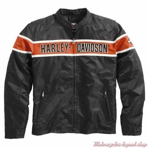 Blouson textile Generations, homme, noir, orange, beige, vintage, Harley-Davidson 98162-21VM
