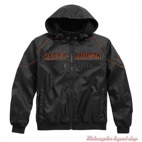 Blouson polaire Idyll Performance homme, capuche amovible, noir, polyester, Harley-Davidson 98163-21VM