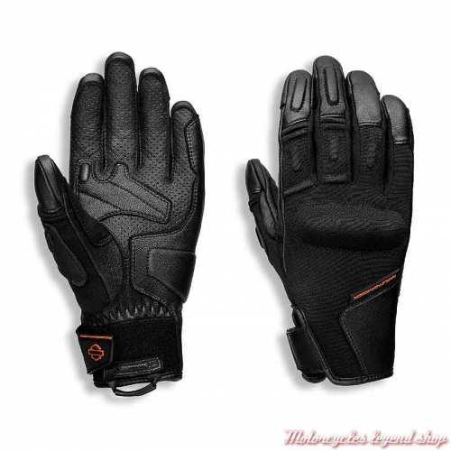 Gants Brawler Harley-Davidson femme, tissu et cuir, Coolcore, noir, 98109-21EW