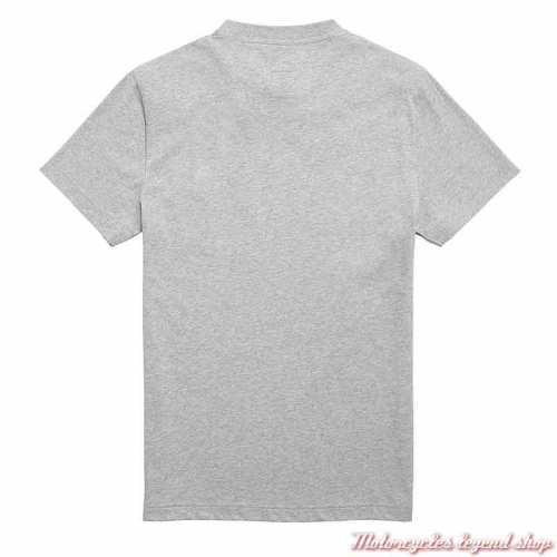 Tee-shirt Burnham Grey Marl homme Triumph, manches courtes, coton, gris clair, dos, MTSS21001