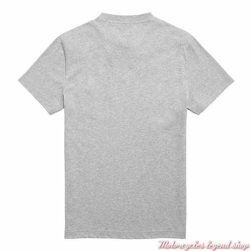 Tee-shirt Cartmel Grey Marl homme Triumph, manches courtes, coton, gris clair, dos, MTSS21007