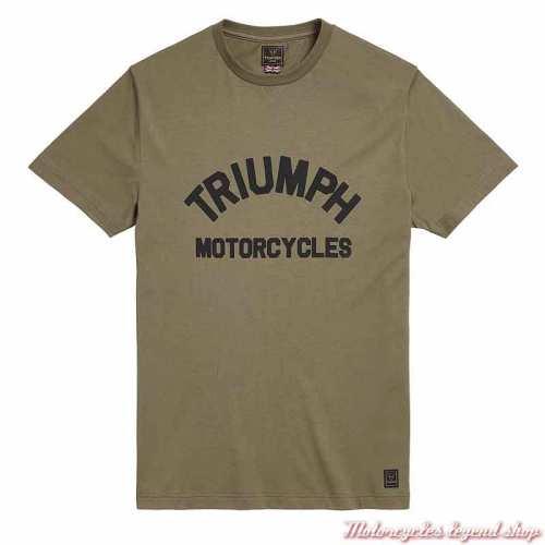 Tee-shirt Burnham Khaki homme Triumph