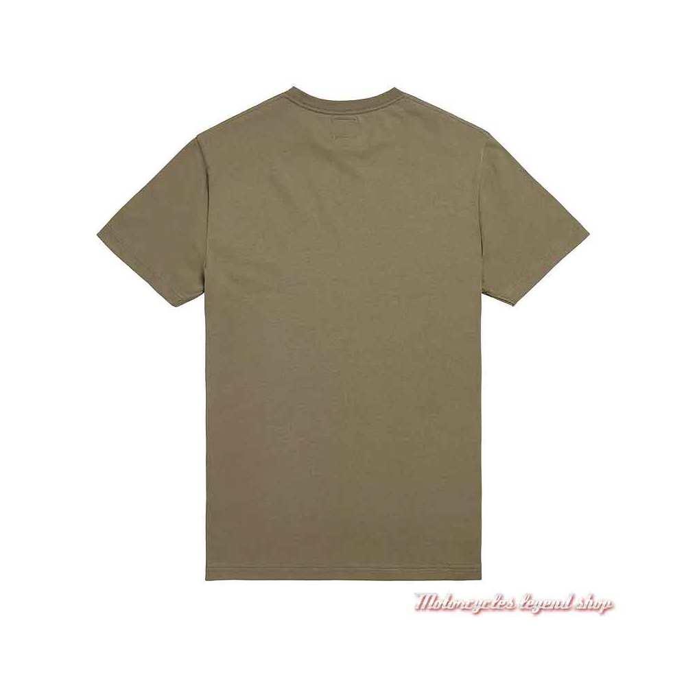 Tee-shirt Burnham Khaki homme Triumph, manches courtes, coton, dos, MTSS20041