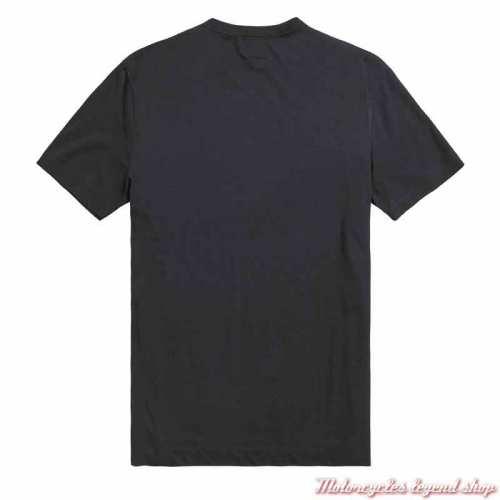 Tee-shirt Hale homme Triumph, noir, manches courtes, coton, dos, MTSS21004