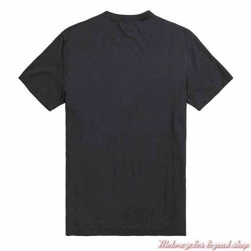 Tee-shirt Helston homme Triumph, noir, manches courtes, coton, dos, MTSS21006