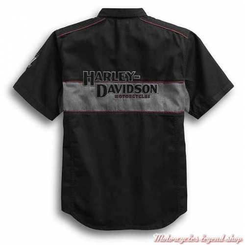 Chemisette Iron Block Harley-, noir, gris, délavé, coton, dos, 99018-17VMDavidson homme