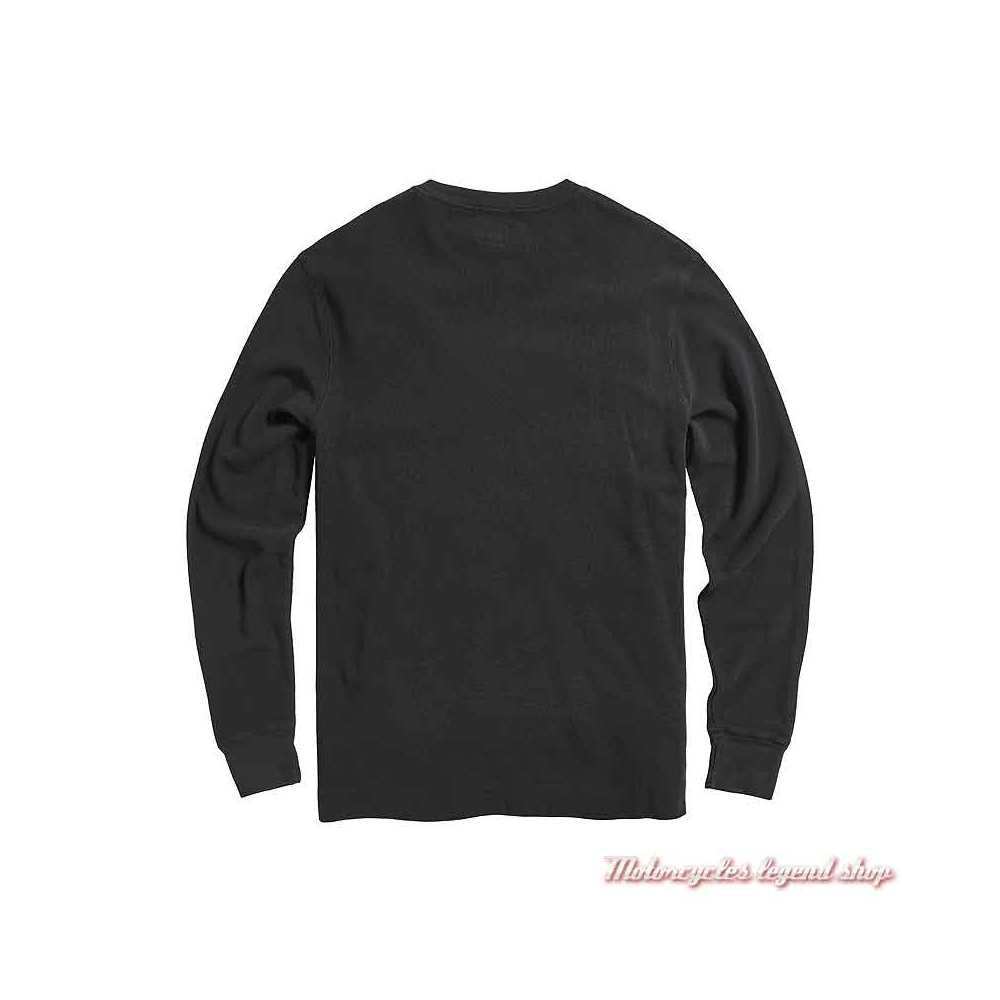 Tee-shirt Bettman Jet Black homme Triumph, manches longues, coton, dos, MTLS21010