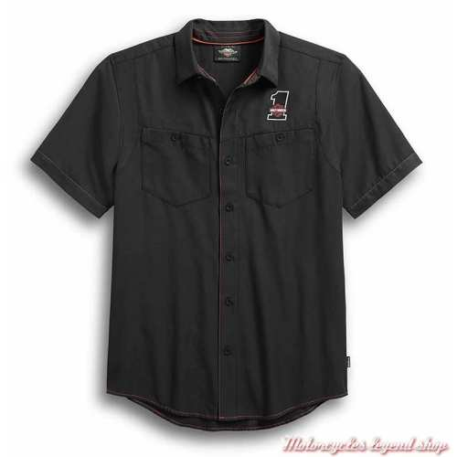 Chemisette Performance Coolcore Harley-Davidson homme, polyester, manches courtes, noir, 99188-19M