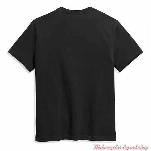 Tee-shirt Horizon Harley-Davidson homme, manches courtes, noir, coton, dos, 96351-21VM