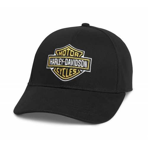 Casquette Bar & Shield Harley-Davidson, noir, coton, réglable, 97684-21VM