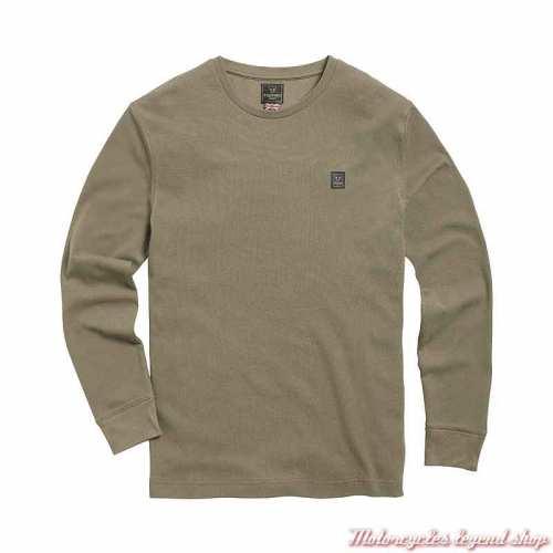Tee-shirt Dean Khaki homme Triumph, coton nid d'abeille, manches longues, kaki, MTLS21013