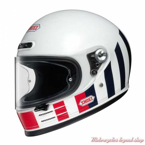 Casque The Glamster Resurrection TC-10 intégral, blanc, bleu, rouge, Shoei