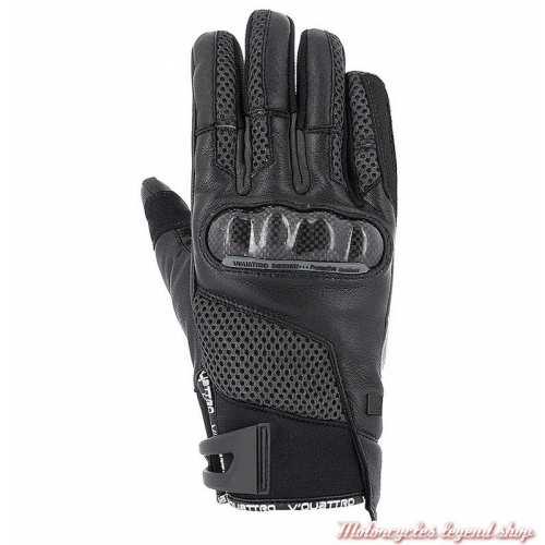 Gants SP 18 V'Quattro, noir, cuir et tissu