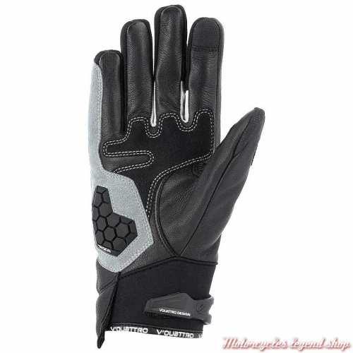 Gants SP 18 V'Quattro, noir, cuir et tissu, paume