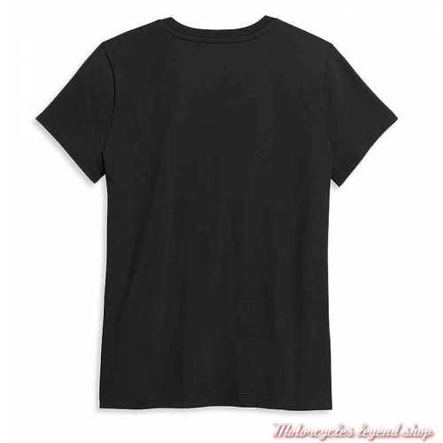Tee-shirt Kickstart My Heart Harley-Davidson femme, noir, manches courtes, col rond, coton, dos, 96405-21VW