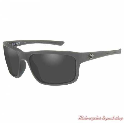 Lunettes solaire Twin grey Harley-Davidson gris mat, verres gris, HATWN01