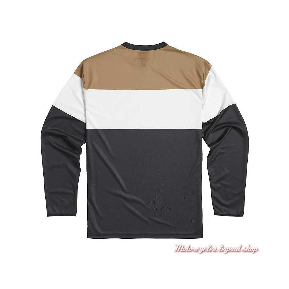 Tee-shirt Adventure homme Triumph, manches longues, noir, blanc, gold, polyester, dos, MTLS21031