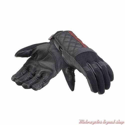Gants mesh Sulby Triumph noir, maille et cuir, MGVS21116