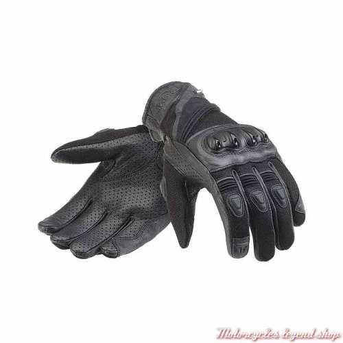 Gants mesh Pitsford Triumph, maille noir, cuir, Adventure, MGVS21320