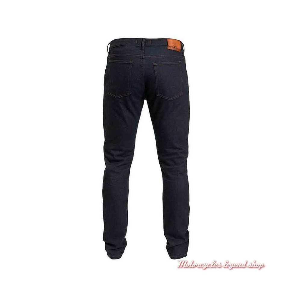 Jeans Rokker Triumph homme slim, bleu indigo, denim Armalith, dos, MDJS20200