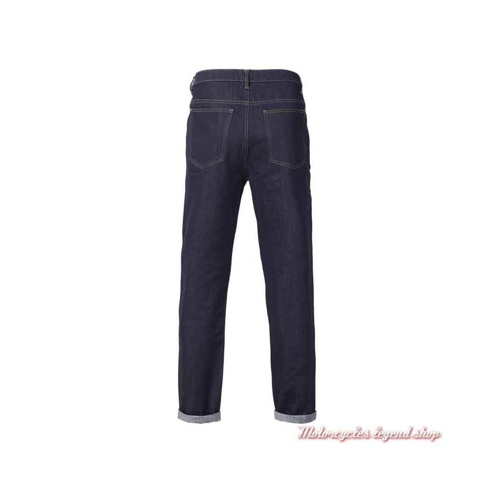 Jeans Craner Triumph homme slim, bleu indigo, homologué CE, dos, MDJS21107