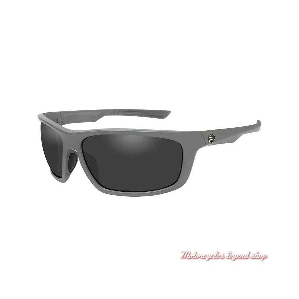 Lunettes solaire Gears grey Harley-Davidson gris mat, verres gris, HAGRS01