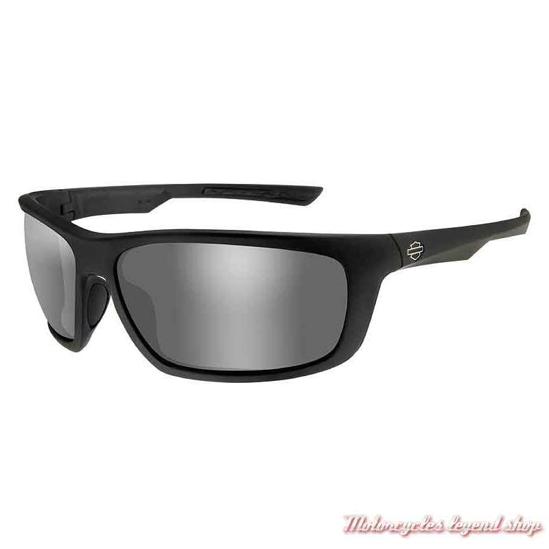 Lunettes solaire Gears Harley-Davidson, noir mat, verres gris silver, HAGRS02