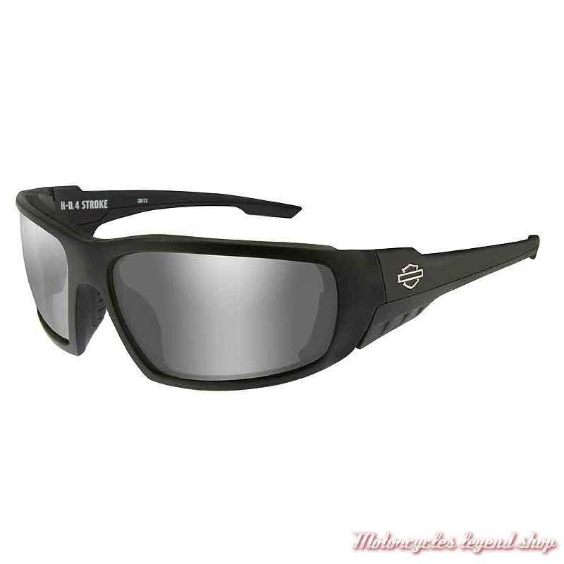 Lunettes solaire Stroke Harley-Davidson, noir mat, verres gris silver, HASTR02