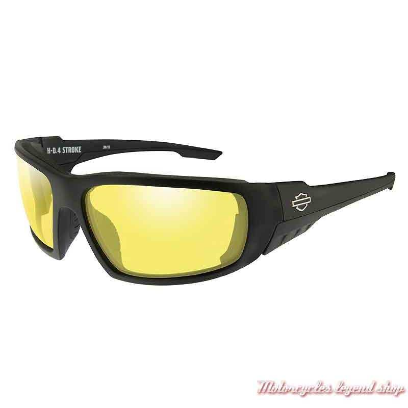 Lunettes solaire Stroke Harley-Davidson, noir mat, verre jaune, HASTR11