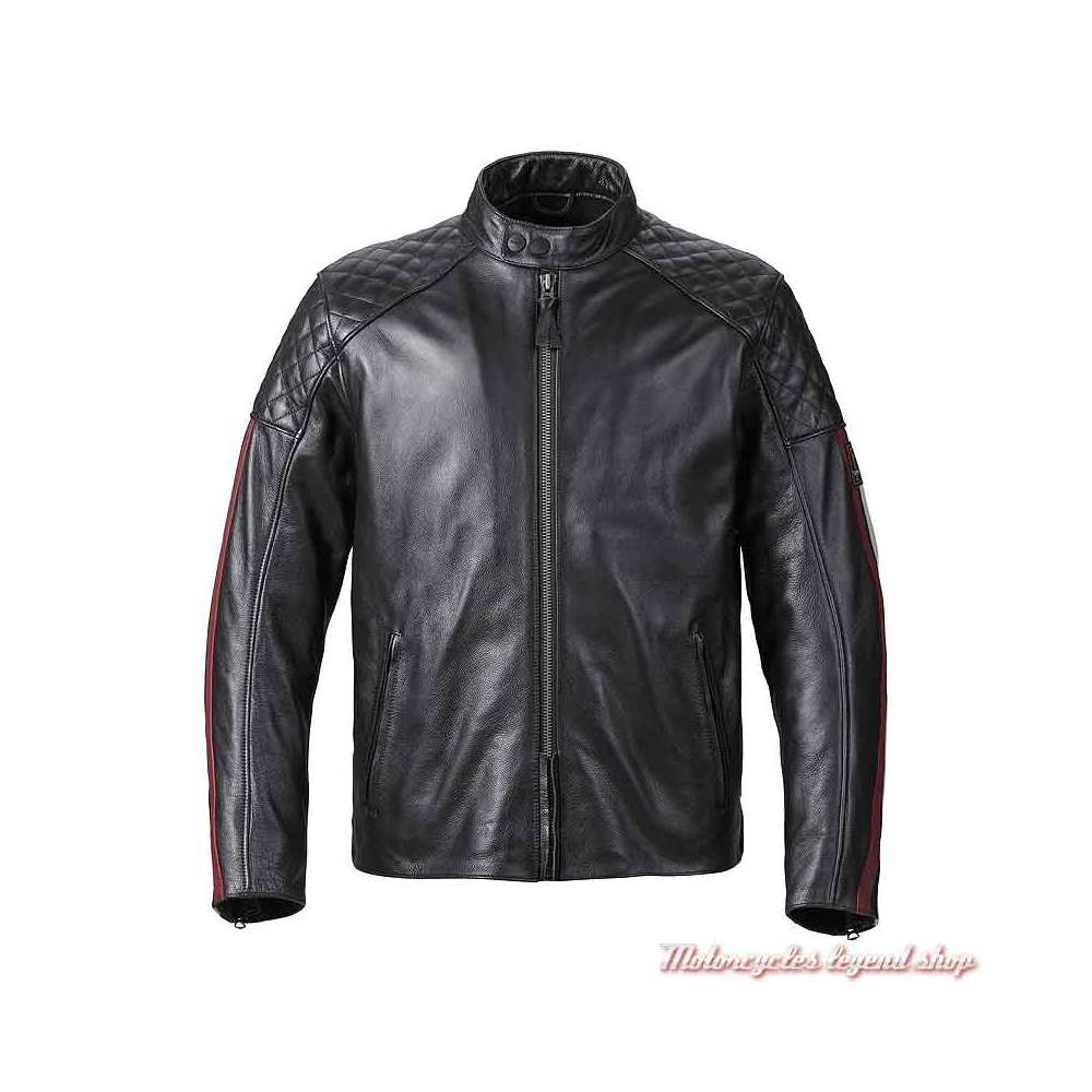 Blouson cuir Braddan Sport Triumph homme, noir, MLHS21101